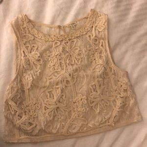 Lace/knitted crop top